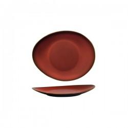 Luzerne 185 x 155mm Oval Plate Rustic Crimson (12)