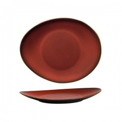 Luzerne 225 x 185mm Oval Plate Rustic Crimson (6)
