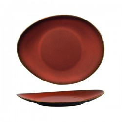 Luzerne 290 x 245mm Oval Plate Rustic Crimson (3)