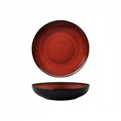 Luzerne 1200ml Bowl / Plate 230mm Rustic Crimson (4)