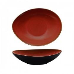 Luzerne 780ml Oval Share Bowl 230 x 180mm Rustic Crimson (6)