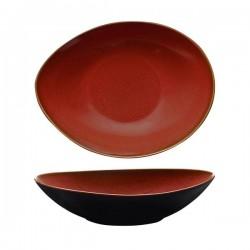 Luzerne 1280ml Oval Share Bowl 280 x 215mm Rustic Crimson (3)