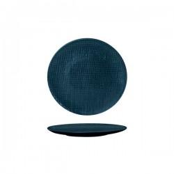 Luzerne Linen 180mm Round Plate Flat Navy Blue (6)