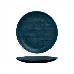 Luzerne Linen 260mm Round Plate Flat Navy Blue (4)