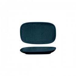 Luzerne Linen 215 x 135mm Oblong Share Plate Navy Blue (6)