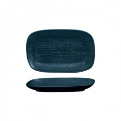 Luzerne Linen 265 x 165mm Oblong Share Plate Navy Blue (4)