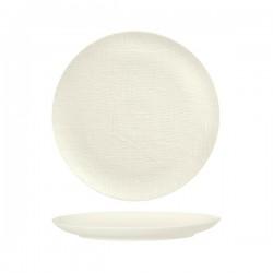 Luzerne Linen 285mm Round Plate Flat White (4)