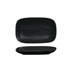 Luzerne Linen 265 x 165mm Oblong Share Plate Black (4)