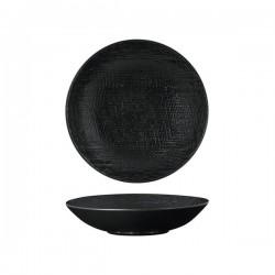Luzerne Linen 200mm Share Bowl 700ml Black (4)