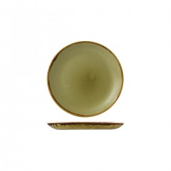 Round Coupe Plate 165mm Harvest Green Dudson (12)