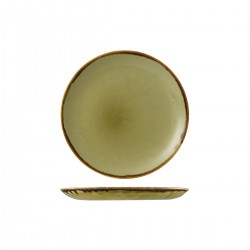 Round Coupe Plate 217mm Harvest Green Dudson (12)