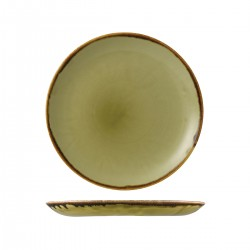 Round Coupe Plate 260mm Harvest Green Dudson (12)
