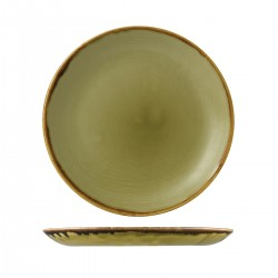 Round Coupe Plate 288mm Harvest Green Dudson (12)