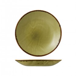 Deep Coupe Plate 255mm Harvest Green Dudson (12)