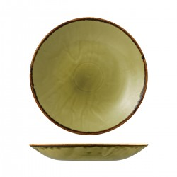 Deep Coupe Plate 281mm Harvest Green Dudson (12)