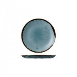 Round Plate Coupe 165mm Harvest Blue Dudson (12)