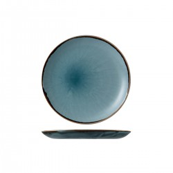 Round Plate Coupe 217mm Harvest Blue Dudson (12)