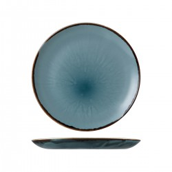 Round Plate Coupe 260mm Harvest Blue Dudson (12)