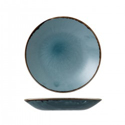 Deep Coupe Plate 255mm Harvest Blue Dudson (12)