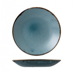 Deep Coupe Plate 281mm Harvest Blue Dudson (12)