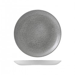 Round Plate Coupe 260mm Evo Origins Natural Grey Dudson (12)