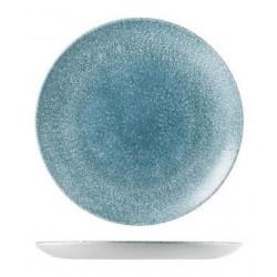 Round Coupe Plate 217mm Raku Topaz Blue Churchill Studio Prints (12)