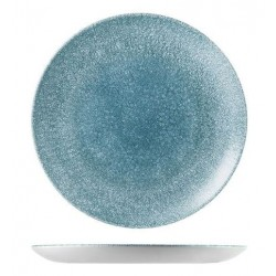 Round Coupe Plate 260mm Raku Topaz Blue Churchill Studio Prints (12)