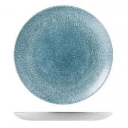 Round Coupe Plate 288mm Raku Topaz Blue Churchill Studio Prints (12)
