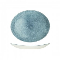 Oval Coupe Plate 270 x 229mm Raku Topaz Blue Churchill Studio Prints (12)