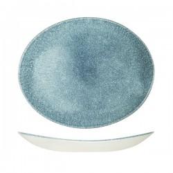 Oval Coupe Plate 317 x 255mm Raku Topaz Blue Churchill Studio Prints (12)