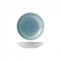 Round Coupe Bowl 182mm / 426ml Raku Topaz Blue Churchill Studio Prints (12)