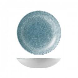 Round Coupe Bowl 248mm / 1136ml Raku Topaz Blue Churchill Studio Prints (12)