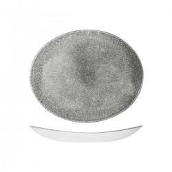 Oval Coupe Plate 270 x 229mm Raku Quartz Black Churchill Studio Prints (12)