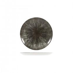 Round Coupe Plate 165mm Stone Quartz Black Churchill Studio Prints (12)