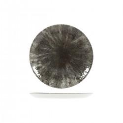 Round Coupe Plate 217mm Stone Quartz Black Churchill Studio Prints (12)