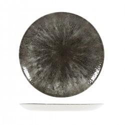 Round Coupe Plate 288mm Stone Quartz Black Churchill Studio Prints (12)