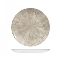 Round Coupe Plate 260mm Stone Agate Grey Churchill Studio Prints (12)