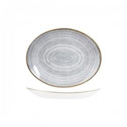 Oval Coupe Plate 270 x 229mm Stone Grey Churchill Studio Prints (12)