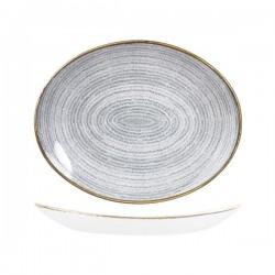 Oval Coupe Plate 317 x 255mm Stone Grey Churchill Studio Prints (12)