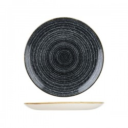 Round Coupe Plate 260mm Charcoal Black Churchill Studio Prints (12)
