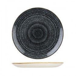 Round Coupe Plate 288mm Charcoal Black Churchill Studio Prints (12)