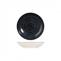 Round Coupe Bowl 182mm / 426ml Charcoal Black Churchill Studio Prints (12)