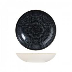 Round Coupe Bowl 248mm / 1136ml Charcoal Black Churchill Studio Prints (12)