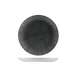 Round Coupe Plate 217mm Agano Black Churchill Studio Prints (12)