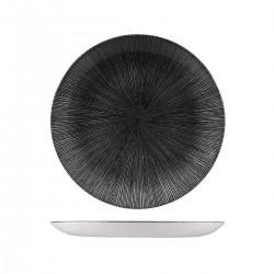 Round Coupe Plate 260mm Agano Black Churchill Studio Prints (12)