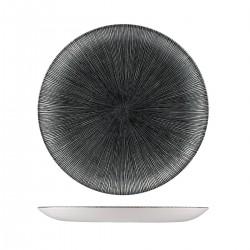 Round Coupe Plate 288mm Agano Black Churchill Studio Prints (12)