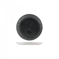 Round Coupe Plate 165mm Agano Black Churchill Studio Prints (12)