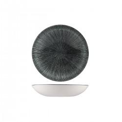 Round Coupe Bowl 182mm / 426ml Agano Black Churchill Studio Prints (12)