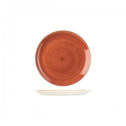 Round Coupe Plate 165mm Spiced Orange Churchill Stonecast (12)