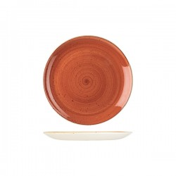 Round Coupe Plate 217mm Spiced Orange Churchill Stonecast (12)
